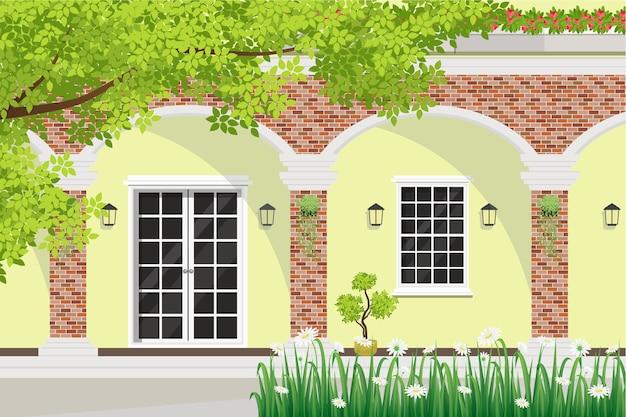 Vista De La Terraza De La Casa Diseño Exterior De La Casa Con