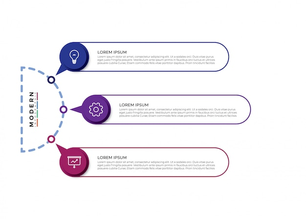 Visualización de datos comerciales de línea delgada Vector Premium