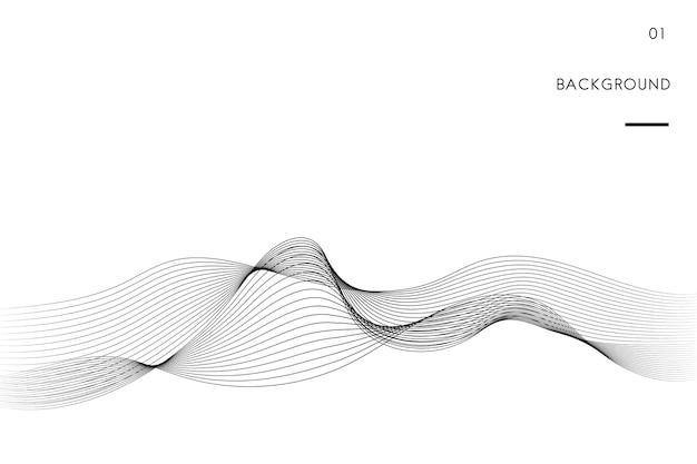 Visualización de datos dinámico vector de patrón de onda vector gratuito