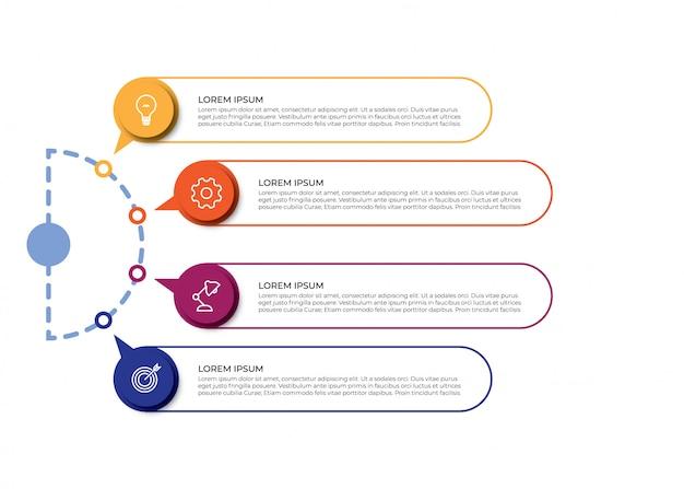 Visualización de datos empresariales de infografía Vector Premium