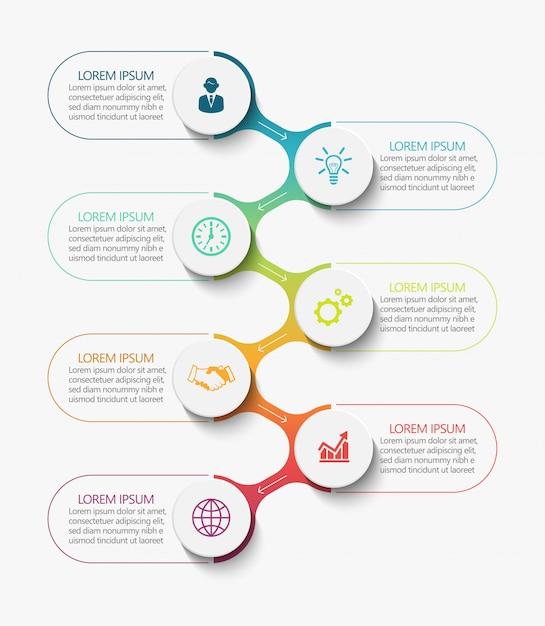 Visualización de datos empresariales Vector Premium