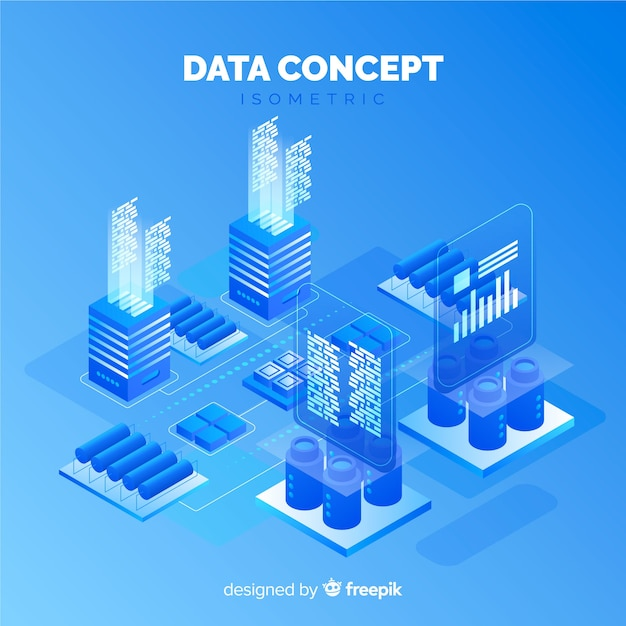 Visualización de datos vector gratuito