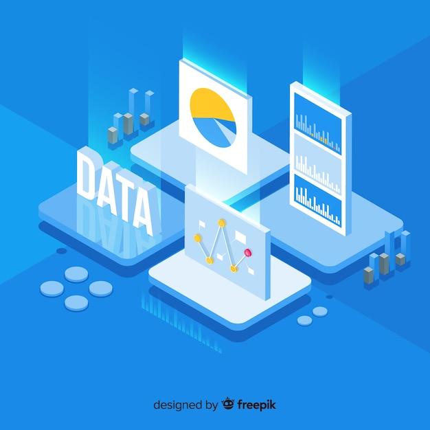 Visualización de información vector gratuito