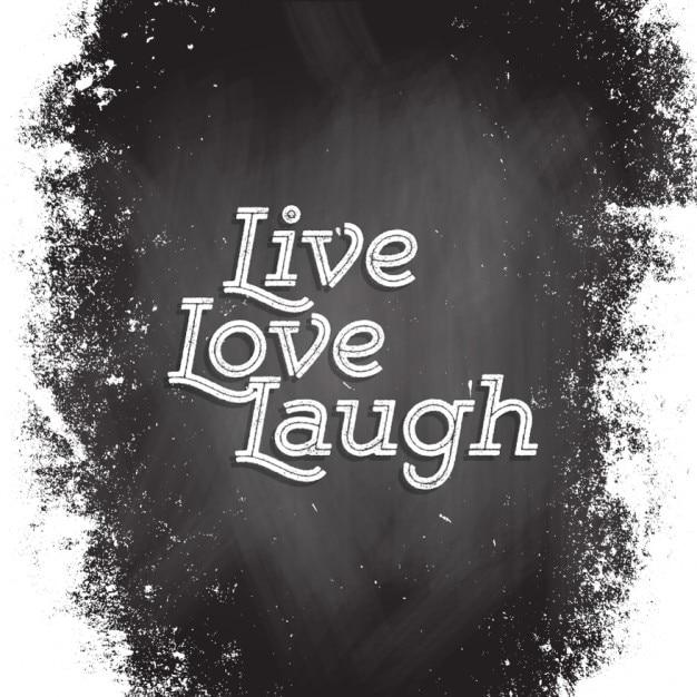Vive, ama y ríe Vector Gratis