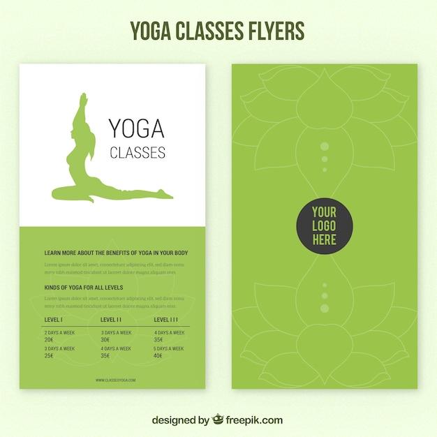 Volantes verdes clases de yoga  8b1fcd8698a1