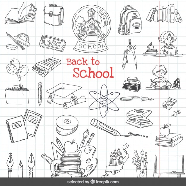 Volver a iconos de la escuela set | Descargar Vectores gratis