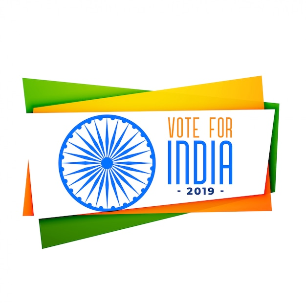 Vota bandera india en tri color vector gratuito