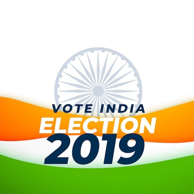 Votar diseño de la elección india vector gratuito