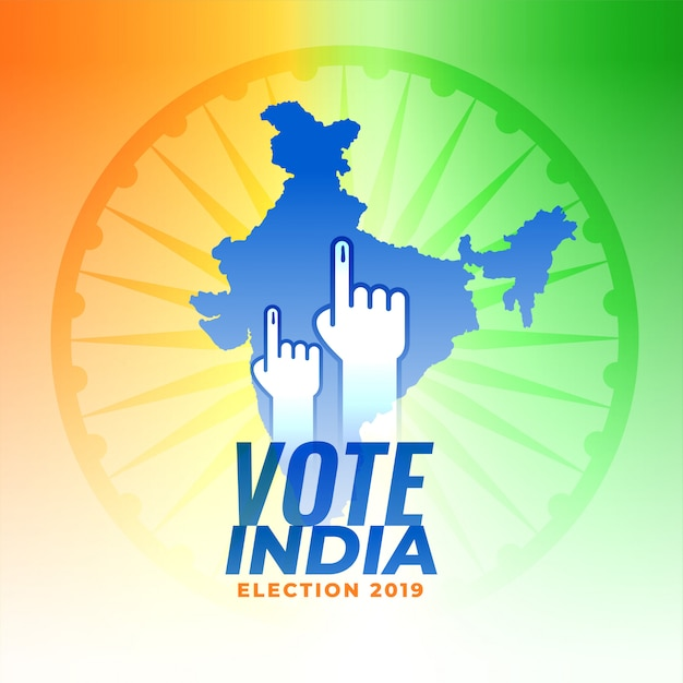 Votar para el fondo de la elección india vector gratuito