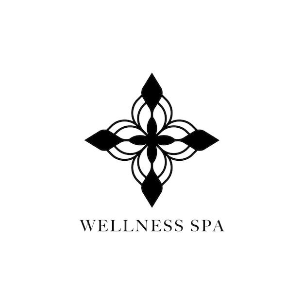 Wellness spa diseño logo vector vector gratuito