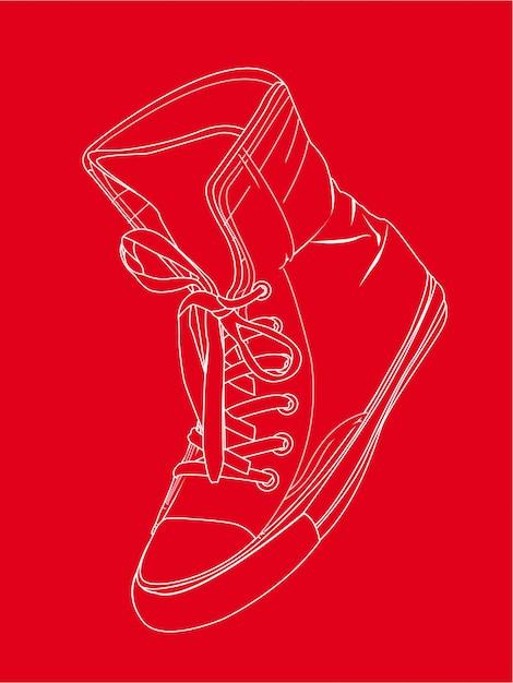 Deporte Sobre Ilustración De Fondo Silueta Vectores Zapatilla BOxRvq55