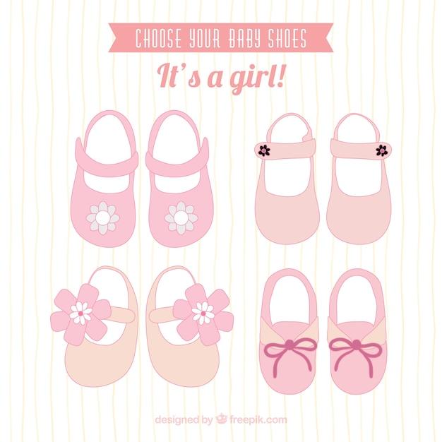 Zapatos de bebé rosados | Descargar Vectores gratis
