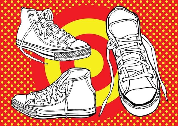 zapatos de baloncesto Vector Gratis