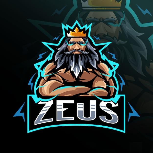 Zeus mascot logo esport design | Vector Premium