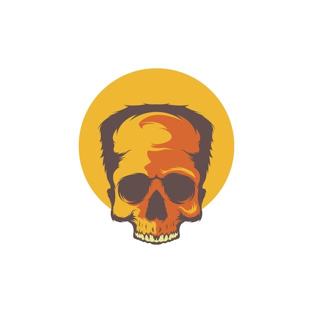Zombie cráneo vector Vector Premium