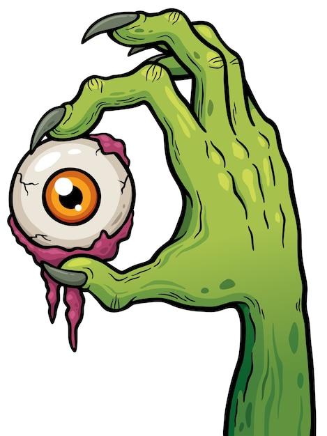 Zombie de dibujos animados Vector Premium