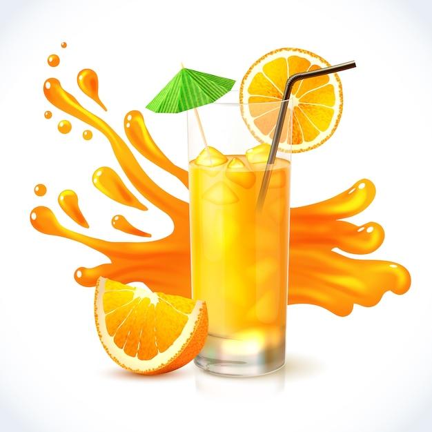 Zumo de naranja Vector Gratis