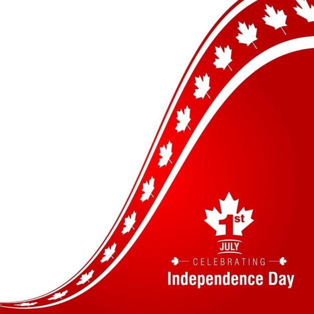 1. juli happy canada day hintergrund Kostenlosen Vektoren