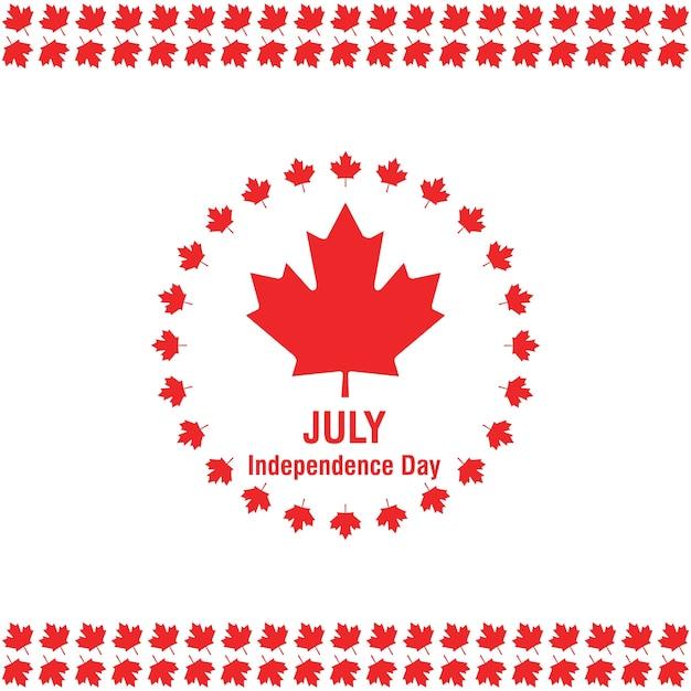 1. juli happy canada day kanada flagge auf weißem hintergrund Kostenlosen Vektoren