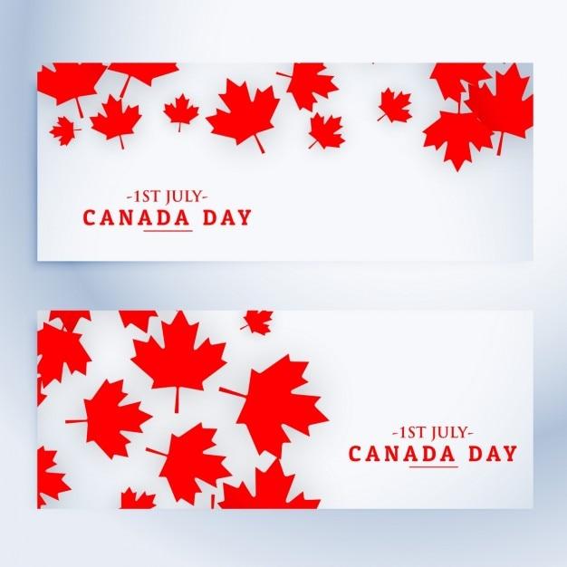 1. juli kanada-tag banner Kostenlosen Vektoren