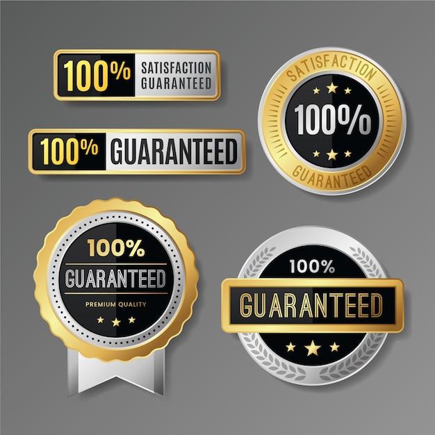 100% garantie etikettenkollektion Kostenlosen Vektoren