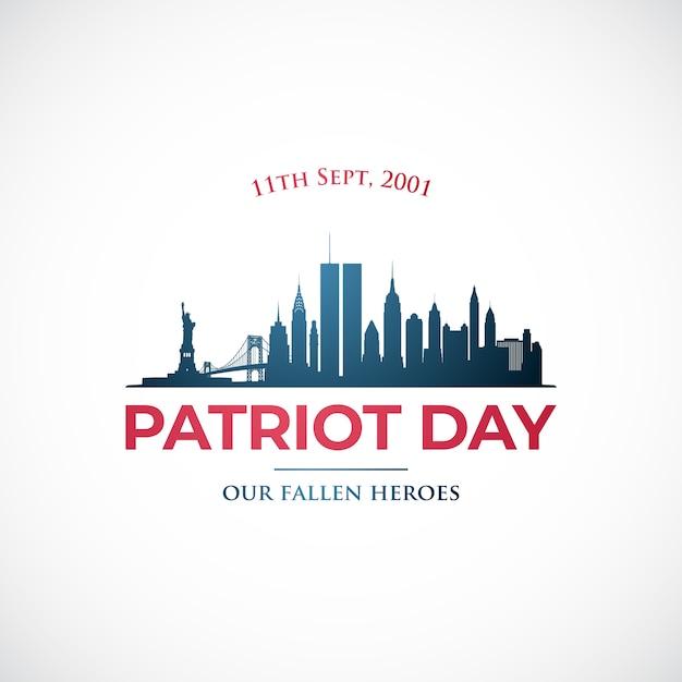 11. september, patriotentag in den usa. Premium Vektoren