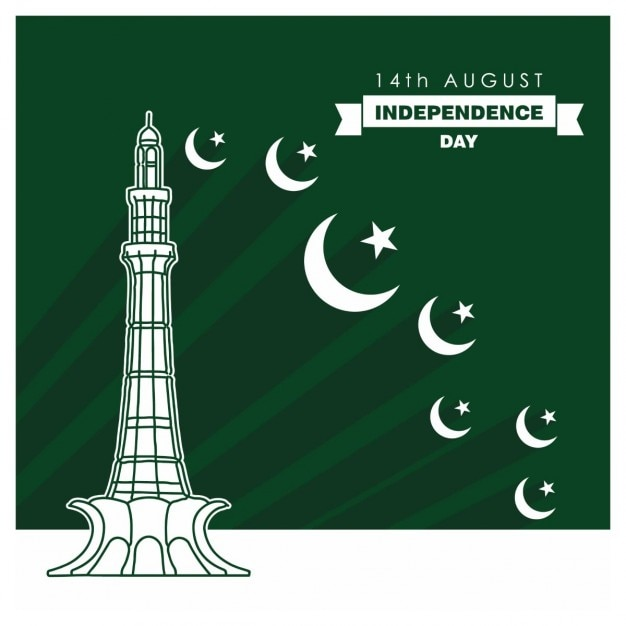 14. august pakistan independence day celebration-karte vektor-illustration Kostenlosen Vektoren