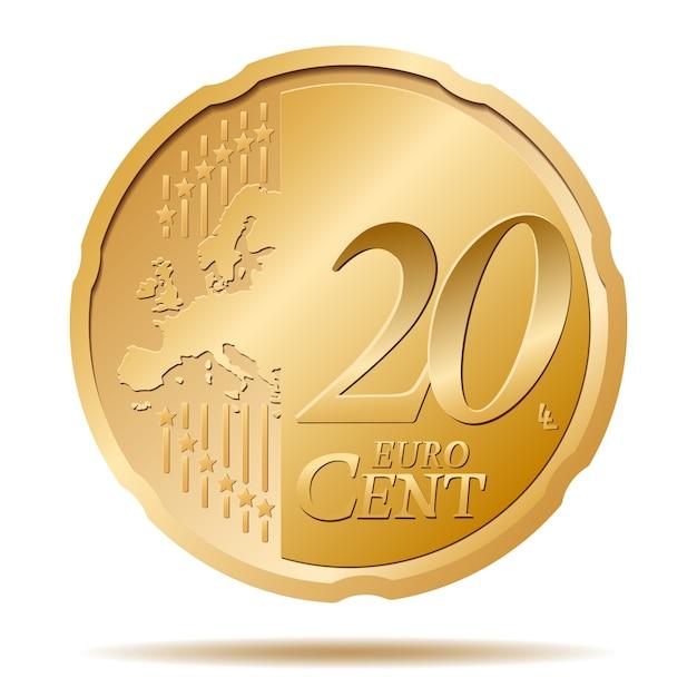 20-cent-münze Premium Vektoren