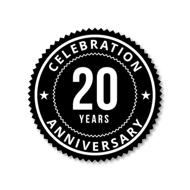 20 jahre vektordesign feiern Premium Vektoren
