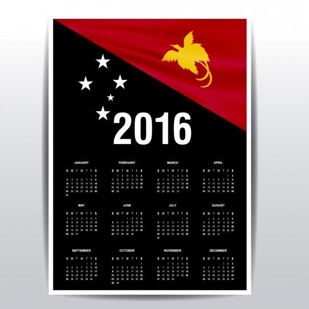 2016 kalender von papua neuguinea flagge download der. Black Bedroom Furniture Sets. Home Design Ideas