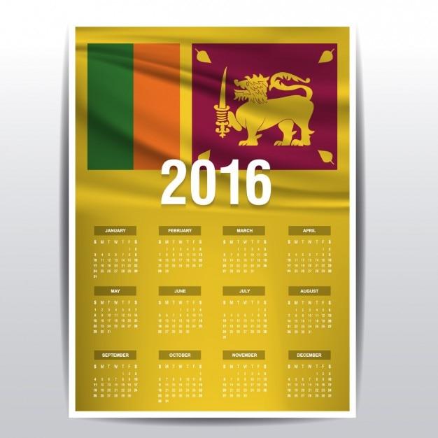 2016 kalender von sri lanka flag download der. Black Bedroom Furniture Sets. Home Design Ideas
