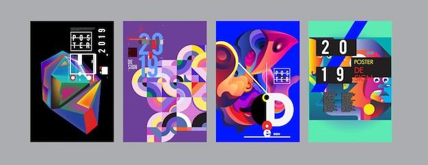2019 neue designvorlage für poster und cover Premium Vektoren