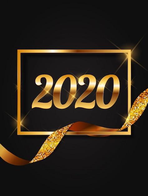 2020 neujahr hintergrund. Premium Vektoren