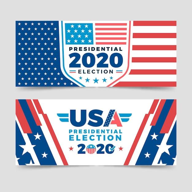 2020 uns präsidentschaftswahl banner vorlage Kostenlosen Vektoren
