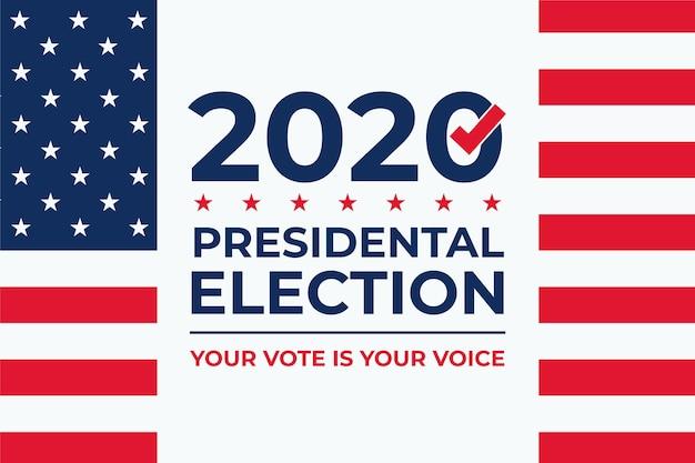2020 uns präsidentschaftswahl hintergrund Premium Vektoren