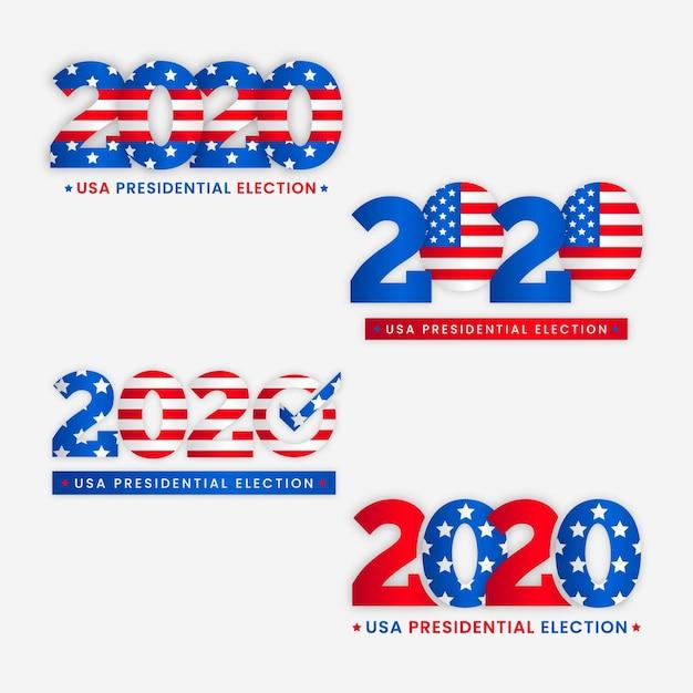 2020 uns präsidentschaftswahl logos Kostenlosen Vektoren