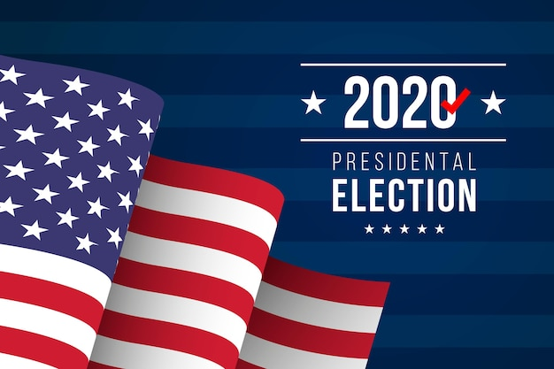2020 uns präsidentschaftswahl wallpaper Kostenlosen Vektoren