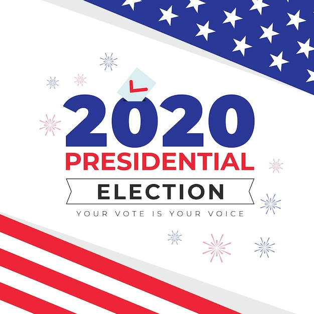 2020 uns präsidentschaftswahlbotschaft Kostenlosen Vektoren