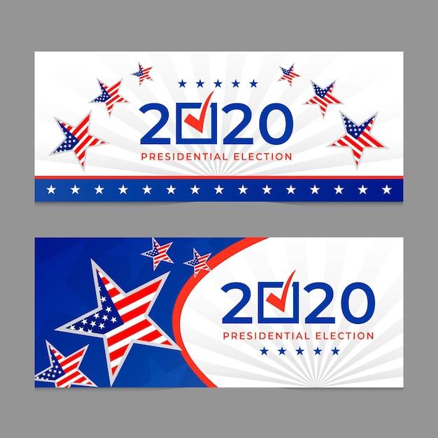 2020 uns präsidentschaftswahlen - banner Kostenlosen Vektoren