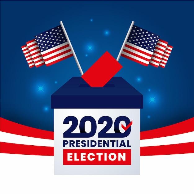 2020 uns präsidentschaftswahlen Premium Vektoren