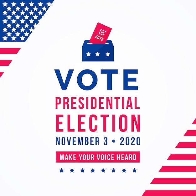 2020 uns präsidentschaftswahlkonzept Kostenlosen Vektoren