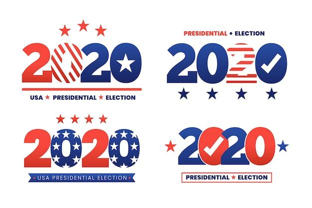 2020 us präsidentschaftswahl logo sammlung Kostenlosen Vektoren
