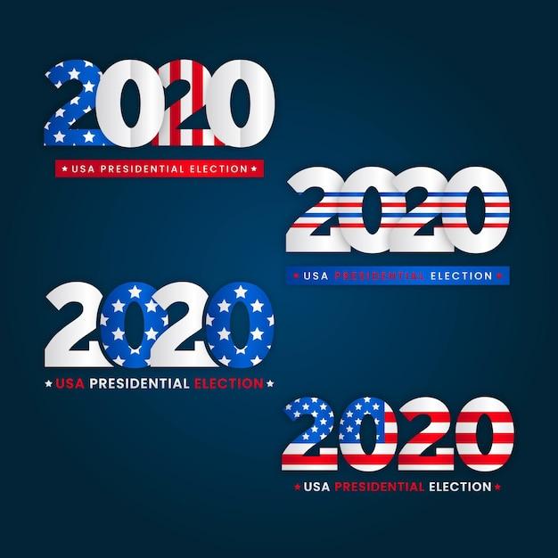 2020 us präsidentschaftswahl logo Kostenlosen Vektoren