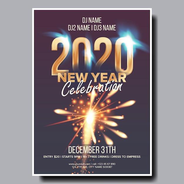 2020 weihnachtsfeier flyer poster Premium Vektoren