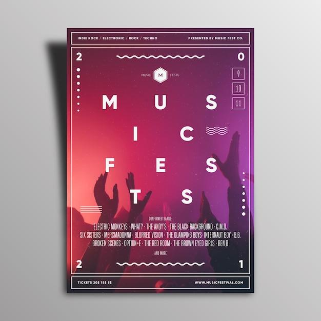 2021 musik event poster design Kostenlosen Vektoren