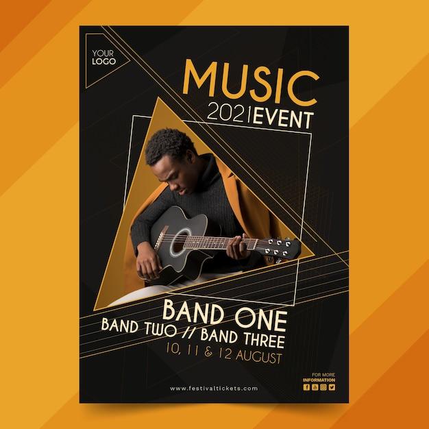 2021 musikereignisplakat Premium Vektoren