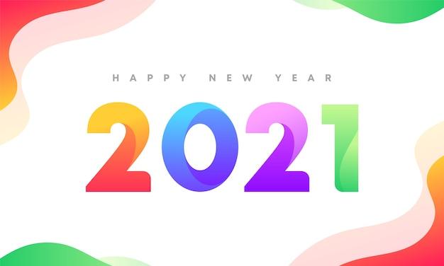 2021 neujahr sauber und bunt banner design Premium Vektoren