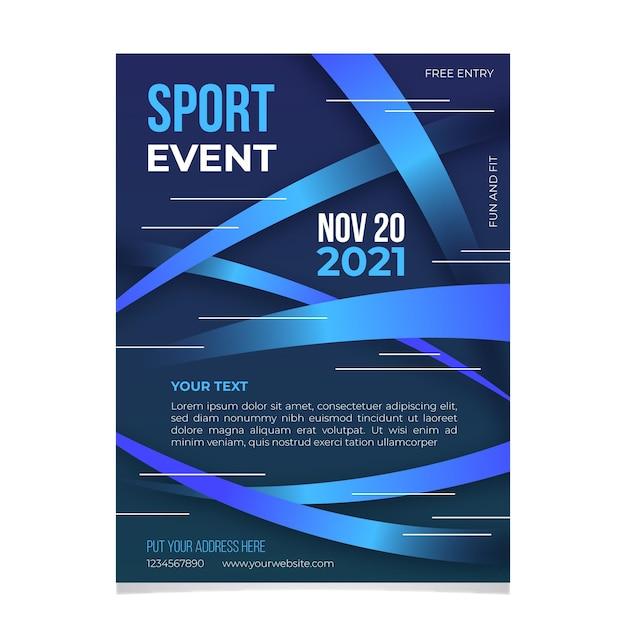 2021 sportereignis poster design Kostenlosen Vektoren