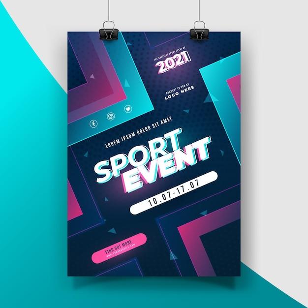 2021 sportereignis poster thema Kostenlosen Vektoren