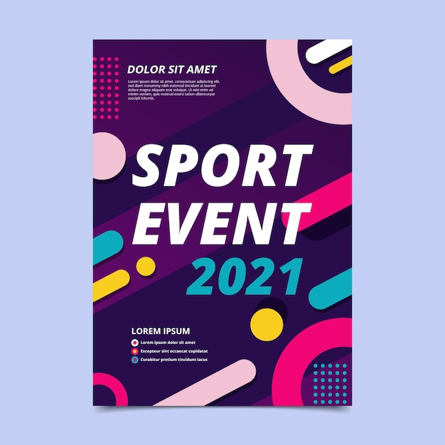 2021 sportereignisplakat Kostenlosen Vektoren